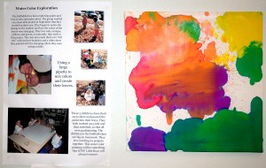 Toddlers painting with watercolors