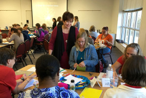 Dr. Isbell with small group creations